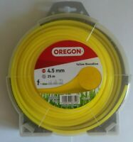 OREGON YELLOW ROUNDLINE 2.4MM X 90M STRIMMER//BRUSHCUTTER CORD 90156E