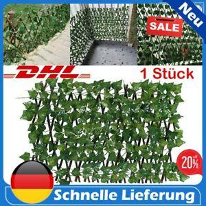 Sichtschutz Ausziehbarer Efeu Künstliche Hecke Gartenzaun Kunstpflanzen Deko DHL