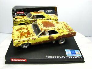 1966 Pontiac GTO Slot Car CARRERA EVOLUTION 1/32   CUSTOM AGED Muddy Rusted Body