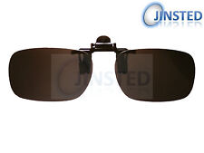 SMALL BLACK GLASSES FLIP FLIP-UP CLIP ON CLIP-ON SUNGLASSES SHADE SUNNIES AC002S