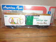 AMERICAN FLYER S GAUGE # 6-48309 SEASONS GREETINGS  BOXCAR FOR 1990 - NEW