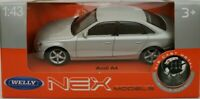 1/43 AUDI A4 GRIS WELLY NEX COCHE DE METAL ESCALA SCALE CAR DIECAST