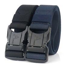"2PCS 1.5"" Wide Mens Nylon Braided Belt 49"" Long Military Style Heavy Duty Belts"