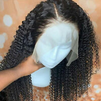 Kinky Curly 13x6 Lace Front Human Hair Wigs 8A Indian Hair Full Wig For Women LT
