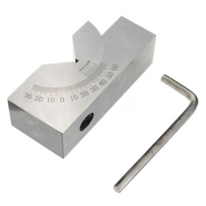 75x25x32mm Precision Mini Adjustable Angle V Block Milling 0 Degree To 60 Deg ZC
