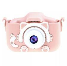 Pink Cute Kawaii Cat Kitty Children's Digital Camera Rechargeable Silicons Case