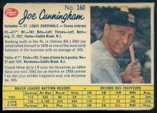 1962 POST CANADIAN BASEBALL #160 JOE CUNNINGHAM EX ST. LOUIS CARDINALS Card