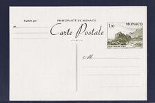Mo/ Monaco  entier carte postale  1f10   palais     neuf