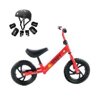 Riscko Minibike bicicleta para niños Honey con casco y protecciones
