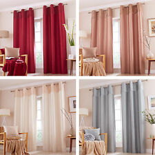 Catherine Lansfield Opulent Velvet Panel Lined 66 x 72 Ring Top Eyelet Curtains
