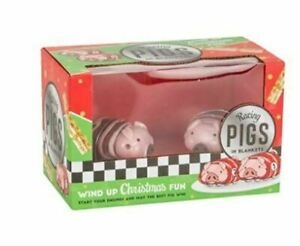 Wind Up Christmas Toys! Racing Pigs in Blankets 2 player fun family game