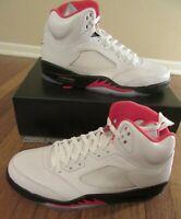 Nike Air Jordan 5 Retro Size 12 True White Fire Red Black DA1911 102 New NIB