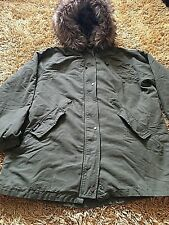 Womens Superdry Leopard Print Parka With Faux Fur Hood And Lining Size L Uk 14