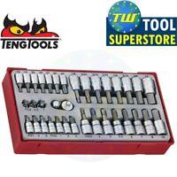 """Teng 35pc 1/4"""" & 3/8"""" Socket Bit Set TTBS35 Flat PH PZ Torx- Tool Control System"""