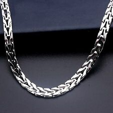 PT950 Pure Solid Platinum 950 Men 4.3mm W Snake Chain Necklace /30g / 23.2''
