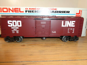LIONEL O GAUGE 6-9217 SOO LINE AUTOMATIC BOX CAR AND BOX