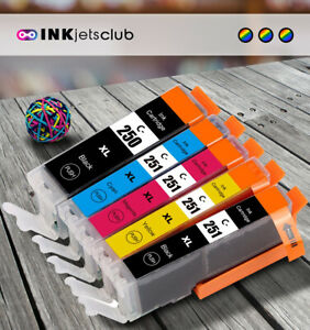 Compatible Canon PGI-250XL & CLI-251XL High Yield Ink Cartridges. 5 Pack