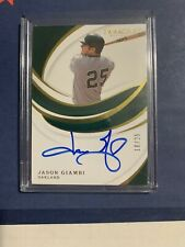 Oakland A's Yankees Jason Giambi 2019 Immaculate Auto Card Rare 18/25 Wow!
