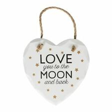 Sass & Belle Love You to The Moon and Back Golden Stars Heart Plaque Decoration
