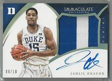 2015-16 PANINI IMMACULATE JAHLIL OKAFOR RC AUTO 2 COLOR JERSEY 06/10!!