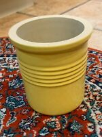 PAMPERED CHEF FAMILY HERITAGE YELLOW UTENSIL CROCK STONEWARE POTTERY JAR 1331 EU