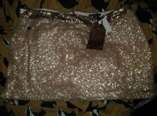 Rock And Revival Gold Sequin Mini Skirt Sz 18