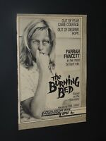 Vintage Original 1985 Farrah Fawcett The Burning Bed ad **FREE SHIPPING*