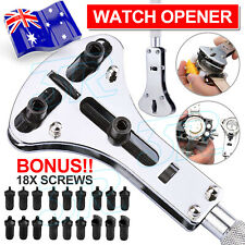 Watch Repair Back Case Opener Wrench Screw Cover Remover Tool Kit AU