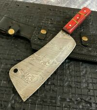 "SUPERB 12"" HANDMADE DAMASCUS STEEL HEAVY DUTY HUNTING AXE/KNIFE W/SHEATH (5-2"