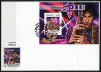 MOZAMBIQUE 2016 TRIBUTE TO PRINCE SOUVENIR SHEET FIRST DAY COVER