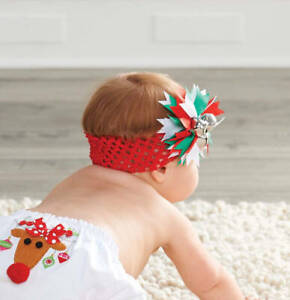 Mud Pie Holiday Christmas Red Jingle Bell Soft Headband - DISCONTINUED