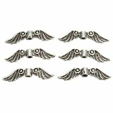 Jewelry Making Craft Angel Fairy Wings Antique Silver Tone Charm Spacer Beads