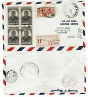 Martinique 1945 Registered Airmail Cover to Canada, See Notes - Lot 101717
