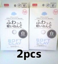 F/S DAISO Soft Clay WHITE 2 pack set butter slime arcilla suave japan
