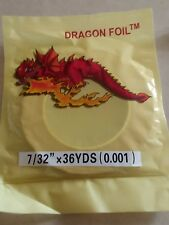 """DRAGON  FOIL 1 mil Copper Foil 7/32"""" Wide x 36 Yards Stained Glass"""