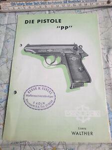 Die Pistole PP Walther Waffenvorschrift Anleitung 08