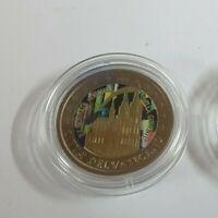 2 Euro Gedenkmünze Vatikan 2005 coloriert mit Farbe/ Farbmünze  Weltjugendtag
