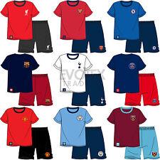 Mens Football Short Sleeve Pyjamas Set and Shorts Pyjama Bottoms Size S M L XL