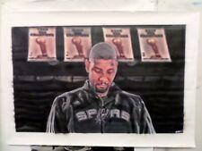 """Huge Tim Duncan """"San Antonio Spurs oil painting on canvas by J Blah"""