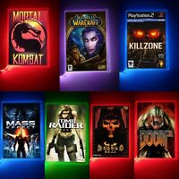Multicolour Neon VideoGame Nightlights, Mortal Kombat, World of Warcraft