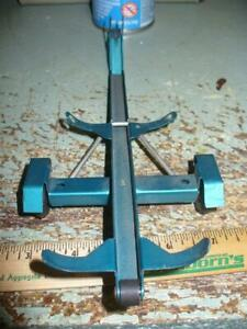 1960's Tonka 1/18 scale green boat trailer vintage pressed steel toy