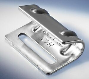 1 x Flachhaken M42 Zink-Nickel   LKW- Planenhaken Spanner Haken Federspanner