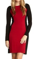 Karen Kane Red/Black Monte Carlo Contrast Stretch Jersey Sheath Dress, XS - $118
