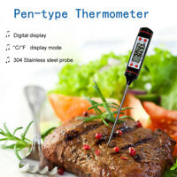 Termometro Digitale Lcd Sonda Per Cucina Alimenti Bevande Laboratorio Barbecue