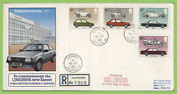 G.B. 1987 British Motor Cars set on Ford First Day Cover, Halewood cds