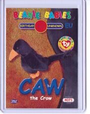 Ty S2 Beanie Card BIRTHDAY CAW THE CROW BLUE EUROPE RARE EUROPEAN VERSION