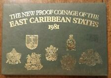 SCARCE 1981 EAST CARIBBEAN STATES PROOF SET IN ORIGINAL PACKAGE COA 6 COINS
