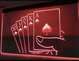 Royal Flush Poker Casino Rule   LED Neon Light Sign    home decor  crafts