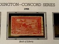 1925 U.S. Scott #618 Two Cent Lexington Concord Issue-Used(Light cancel)