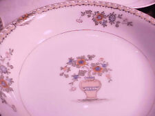 "VINTAGE Noritake SHANTUNG China 3 Saucers & Fruit Bowl - ""M"" Made in Japan"